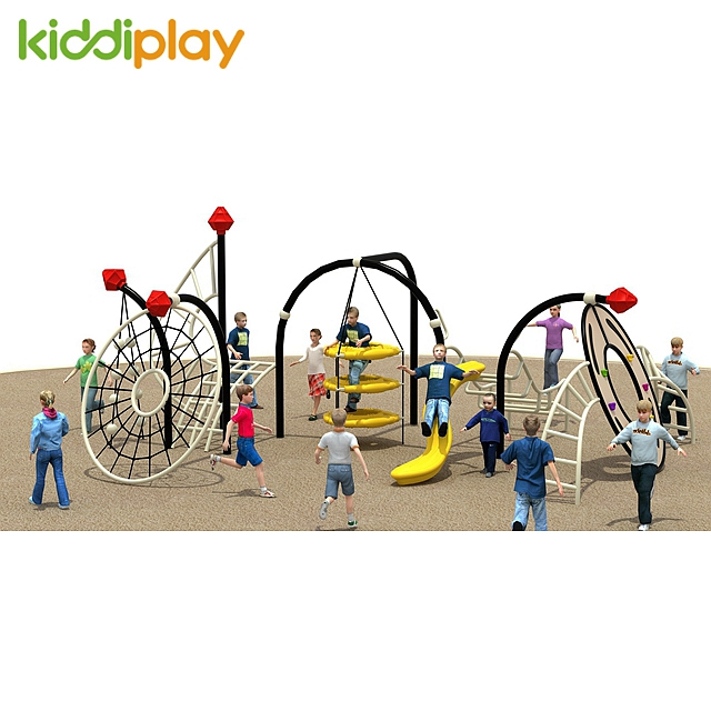 Small Children Outdoor Playground Climbing