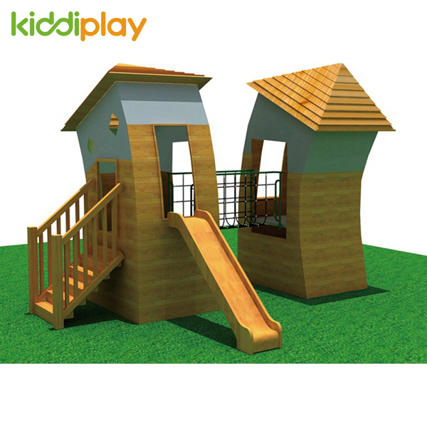 Wooden House Outdoor Playground for Sale