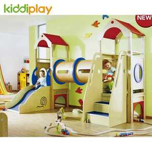 Happy Children Indoor Wooden Soft House Slide Playground