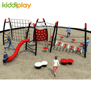 Children Rope Climbing Exercise Playground With Slide Sets