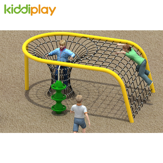 Children outdoor game Climbing rope
