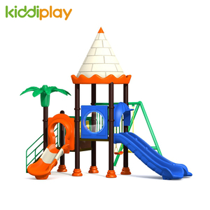 Kindergarten Small Outdoor Playground Plastic Castle Series Slide