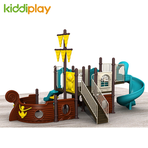 Pirate Ship Series Plastic Slide Material Outdoor Playground Equipment for Sale