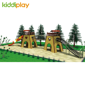 Popular Kids Commercial Fun Wooden Series Outdoor Playground