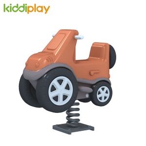 Outdoor Playground Equipment with Children Game Car Spring Rider