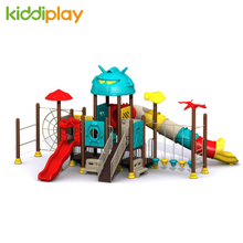 Kids Playhouse Equipment Outdoor Playground With Transformers Series Slide
