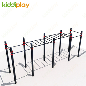 Outdoor Equipment Fitness Steel Pipe Material and Accept Customized Color Street Workout