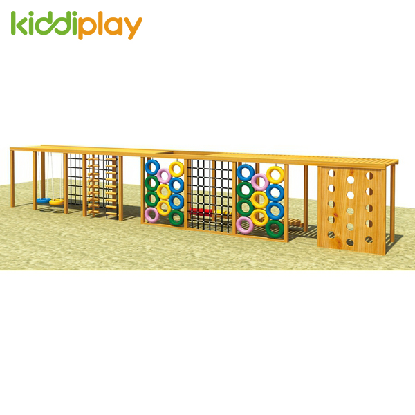 Best Quality Outdoor Playground Wooden Climbing Series for Children