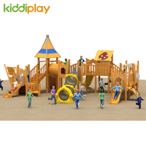 Kindergarten Children's Wooden Slide Series Playground Outdoor Equipment
