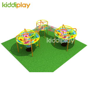 Children Rainbow Crocheted Kids Indoor Playground Equipment
