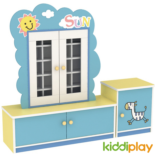 Preschool Solid Wood Classroom Storage Cabinets