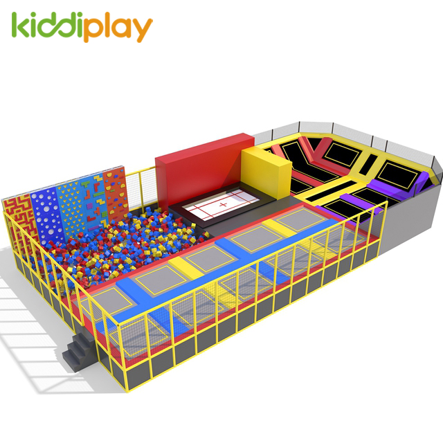 Factory Indoor Amusement Park Price Adult Size Playground Trampoline Park