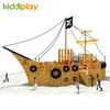 Outdoor Large Wooden Pirate Ship Series Playground Equipment for Children