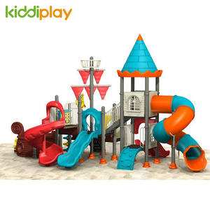Amusement Park Outdoor Playground Plastic Tunnel Slide Pirate Ship Series for Kids