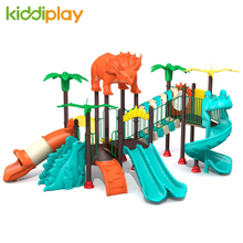 Plastic Outdoor Playground for Sale Factory Kids Dinosaur Series Slides