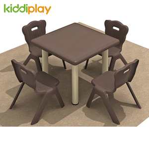 High Quality Colorful Kids Plastic Square Table