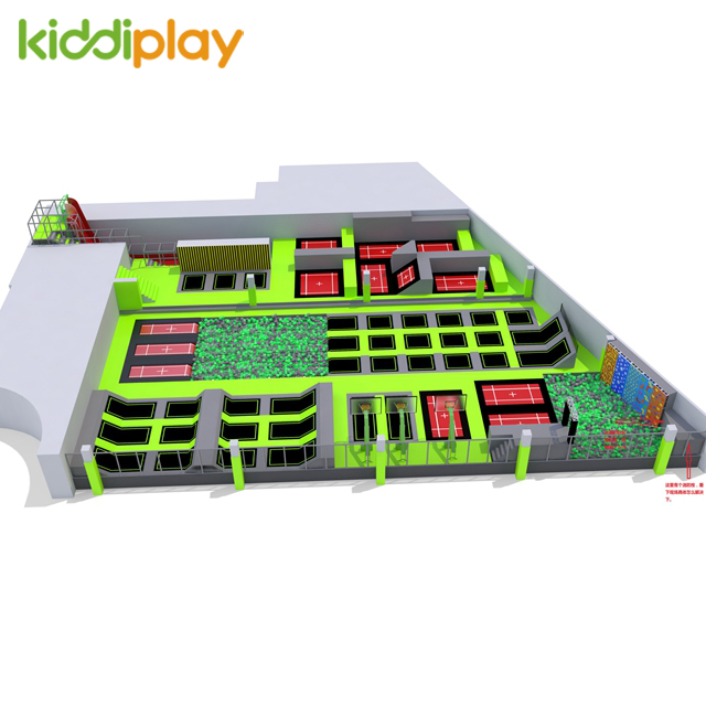 Adults Trampoline with Climbing Wall Kids Sport Indoor Trampoline Park