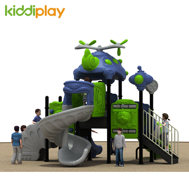 Good Price Airplane Theme Kids Plastic Playground, Children Slide Game Outdoor Equipment