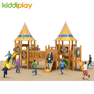 Outdoor EU standard Kindergarten Wooden Series Playground Equipment