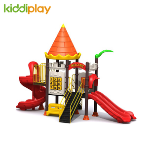 Plastic Castle Series Kindergarten Children's Outdoor Playground Slide