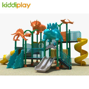 Plastic Children Dinosaur Series Outdoor Playground Slides for Sale