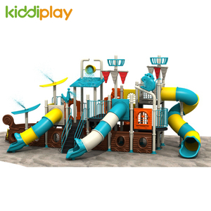 Commercial Kids Plastic Slide Outdoor Water Series Playground Equipment