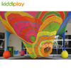 Manufacturing Indoor Rainbow Rope Knitted Playground Climbing Crochet Equipment