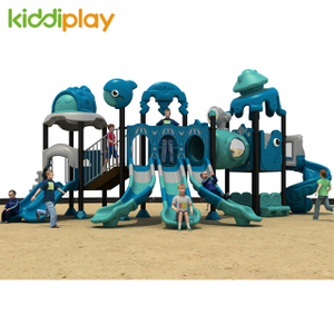 Commercial Outdoor Playground Kids Ocean World Slide Series Equipment