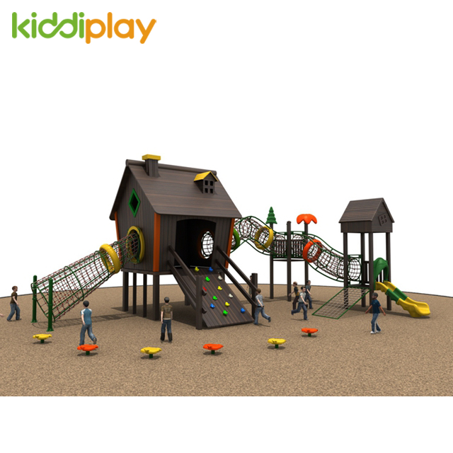 Wooden House Climbing Outdoor Playground