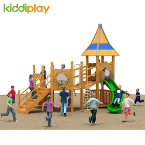 Wooden Outdoor Playground for Children Slide