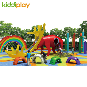 Kids Wooden Series Outdoor Playground Multi Functional Combination Equipment