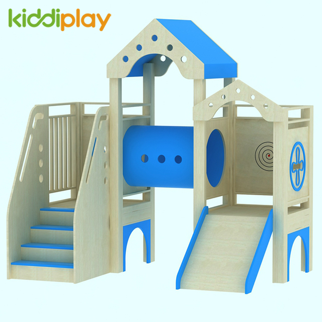 Indoor Kids Tube Slide Wood Play Ground for Sale