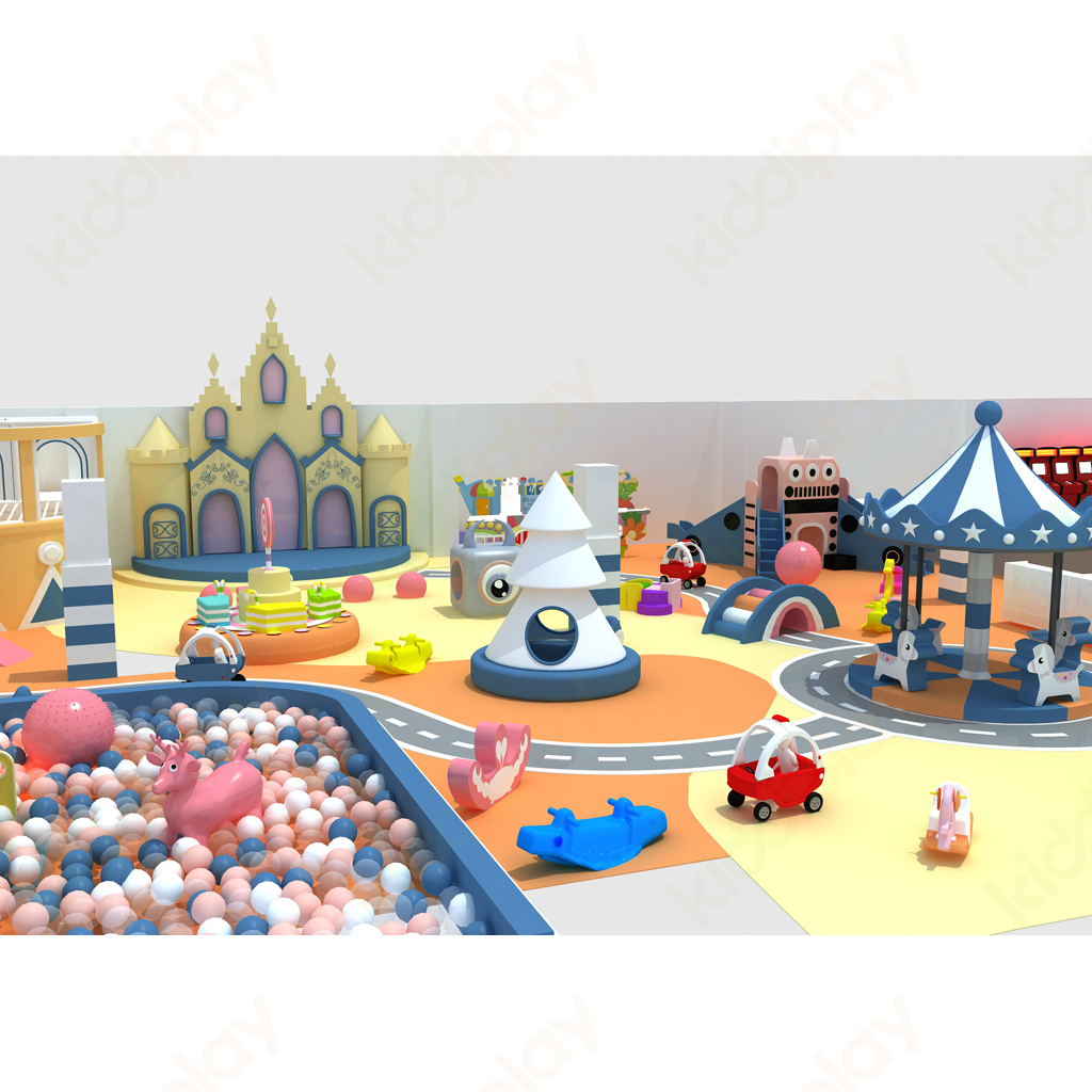 Amusement Park Commercial Children Indoor Playground Happy Land Jumping Zone Labyrinth