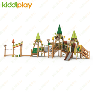 Professional made china supplier outdoor playground kids funny park slide wood playground