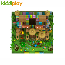 High Quality Forest Hut Theme Imitation Wooden Structure Kids Comprehensive Indoor Playground