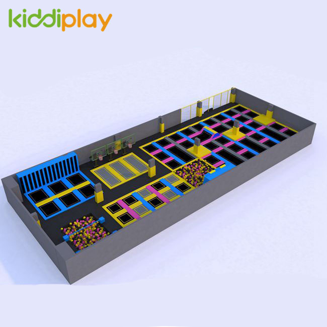 KD11032A Free Jumping V Bounce Foam Pit Trampoline Park Center