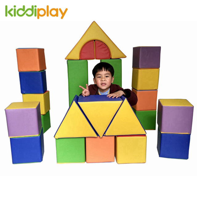 Happy Indoor Toddler Play Soft Color Toy Building Blocks for Kids Education Playground