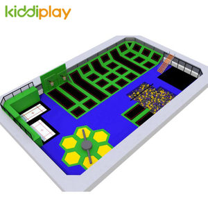 KD11036B Indoor Russian Roulette Foam Pit Basketball Area Free Jumping Trampoline Park Center
