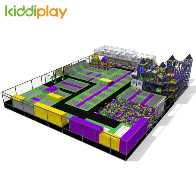 KD11071C Naughty Castle And Rest Area Combined in The Large Trampoline Park