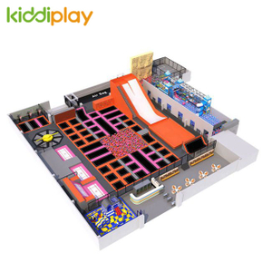 KD11063B Trampoline Park Suitable for Square Place with Cafeteria