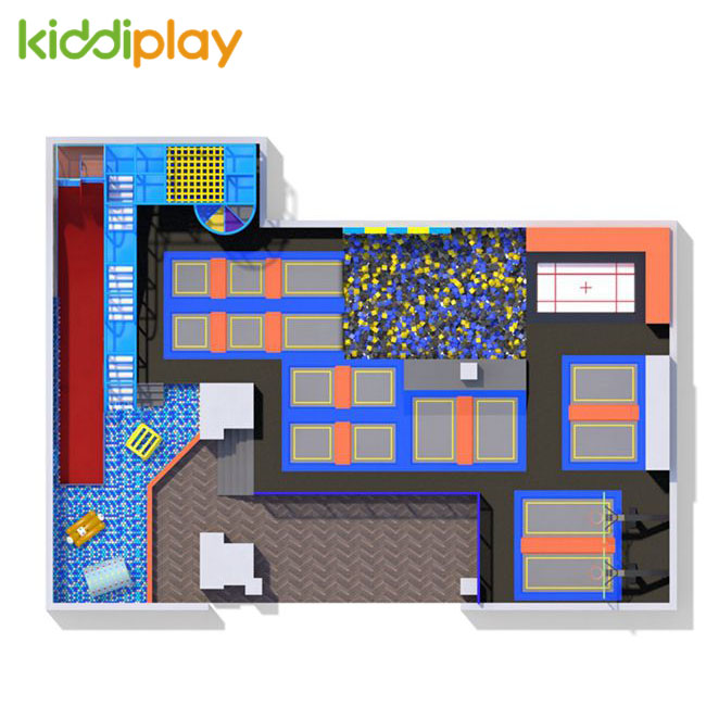 KD11077B TOP5 Hot Design Selling Trampoline Park Center in America