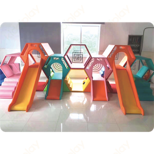 Colorful Children's Indoor Honeycomb Nest Slide Combination Soft Indoor Playground