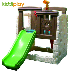 Children Outdoor Observatory Set Plastic Play Toy Slide And Swing