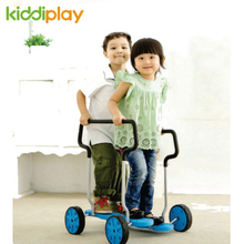 Children Game Double Tandem Bicycles Plastic Toy