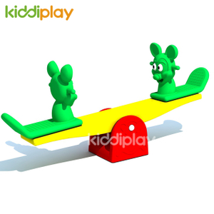 High Quality Children's Toy Rider Seesaw,kids Plastic Seesaw Rider Double Mickey Double Horse Seesaw