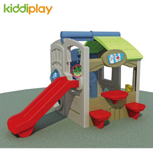 Small Play Children Plastic Toy Swing And Slide for School