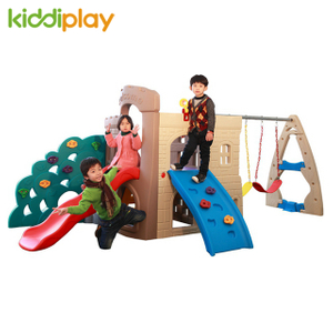 Home Children Outdoor Plastic Slide And Swing